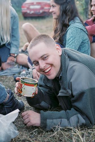 Eating borscht