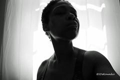 Self Portrait (Stephenie DeKouadio) Tags: canon photography portrait selfportrait blackandwhite monochrome woman shadow shadows lovely