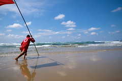 Lifeguard (trsl1234) Tags: beach ocean lifeguard waves sand