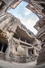 DSC_6273 (Ranjith_july) Tags: architecture archaeology paintings carvings india fisheye traveller wanderlust maharashtra aurangabad sky lowlight structure caves ellora ancient history buildings
