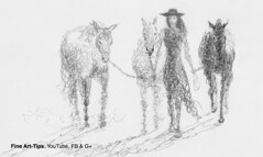 How to Draw Doodle a Woman With Horses - Narrated (fineart-tips) Tags: art drawing finearttips horses doodle girl sketch tutorial artistleonardo leonardopereznieto patreon tutto3