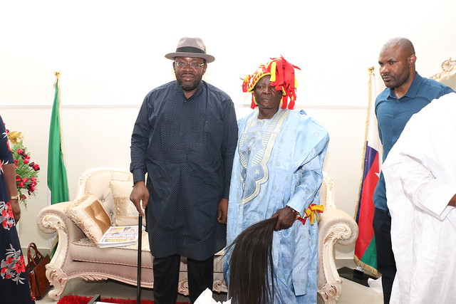 HSDickson- Condolence visit to HIS Excellency by King Christopher Onumah Agbo Otse Ijigban the 3rd HRH.