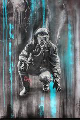 Nuclear Overkill (JuliSonne) Tags: streetart urbanekunst mauer wall graffiti colors scene urban pasteup stencil street berlin plotbotken nuclear