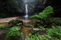 Pool of Siloam || Leura (David Marriott - Sydney) Tags: bluemountains newsouthwales australia au pool siloam leura blue mountains fog waterfall nsw
