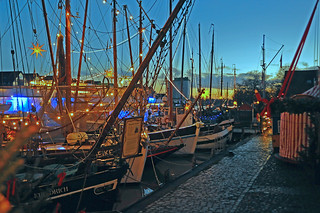 X-Mas impressions at the historic harbour of Leer (East Frisia)