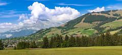 Megève, mont d'Arbois (France) (JBGenève) Tags: europe france megève mountains montagne montblanc forêt forest sky ciel landscape paysage village clouds nuages