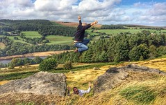 Boo.!     Explore#45 (Mike-Lee) Tags: jump jumping boo mademejump lowbradfield sept2018 mikejilljessicatomas lunch walk inexplore explore explore45