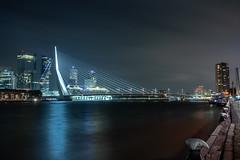 Erasmus Bridge (josef152) Tags: brücke bridge hafen water wasser nachtaufnahme nacht langzeitbelichtung architecture architektur niederlande holland
