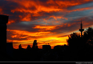 Sunset seen from my apartment, Frankfurt, Germany