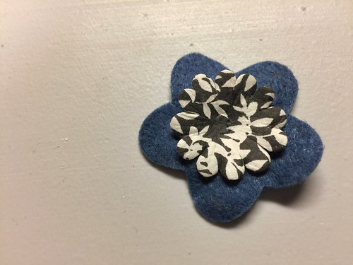 layering flowers for floral pin