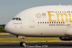 Emirates A6-EUQ A380-800 (IMG_9942) (Cameron Burns) Tags: emirates ek a6eeq airbus airbus380 airbus380800 airbus388 a380 a380800 a388 dxb dubai uae middleeast persiangulf middle east persian gulf red white black green gold manchester airport manchesterairport man egcc ringway viewing park airfield aviation aerospace airliner aeroplane aircraft airplane plane canoneos550d canoneos eos550d canon550d canon eos 550d uk united kingdom unitedkingdom gb greatbritain great britain europe action