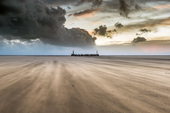 Breezy Beach (Starman_1969) Tags: ali annes beach blowing exposure jetty long lytham mark pier sand st storms stormy sunset windy
