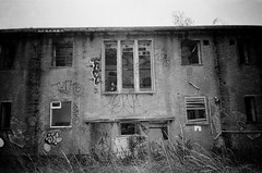 RAF Upwood (esmeelily) Tags: 35mm film analog lomo lomography grain ilford black white is dead urbex derelict abandoned building raf upwood olympus trip af 50