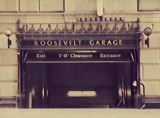 Los Angeles California  - The Hollywood Roosevelt Hotel -  Vintage Garage Door