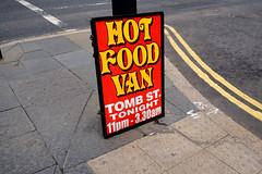 HotFoodVanSign (aLittleCoyote) Tags: hotfoodvan foodvan red yellow sign advertising belfast