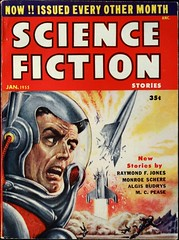 Science Fiction Stories Vol. 5, No. 4 (Jan, 1955). Cover Art by Ed Emsh. Digest size. (lhboudreau) Tags: pulp pulps pulpmagazine pulpmagazines pulpart pulpcover pulpcovers magazinecover magazinecovers magazine magazines vintagepulp vintagepulps vintagemagazine vintagemagazines sciencefiction sciencefictionstories sciencefictionpulp sciencefictionmagazine 1955 january1955 edemsh emshwiller edemshwiller emsh volume5number4 pulpfiction scifi sf algisbudrys raymondfjones mcpease monroeschere fiction story stories text