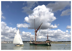 Relaxing by the water [Explored] (The Stig 2009) Tags: thames barge estuary maldon essex london thestig2009 thestig stig 2009 2018 tony o tonyo river blackwater sails white brown sailing hundred dengie