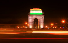 India Gate (irrfanazam) Tags: soldiers army pride monument beautiful delhi nightphotography photography light india gate night tricolor indian