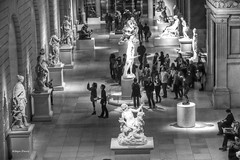 The Met (albyn.davis) Tags: blackandwhite met museum people sculpture light nyc newyorkcity urban city art gallery manhattan