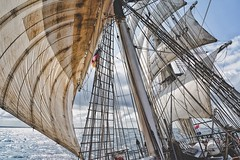 Full Sail.. (u c c r o w) Tags: baltic sea ocean sail sailboat sailor uccrow sky wind germany rostock waves water blue new 2018 sailing ship mercedes
