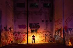 Power Source (vanessa_macdonald) Tags: blue steelwool firespinning lightpainting lightjunkies lightart light jordanriver westcoast urbex urbanexploring nightphotography night steelwoolspinning spinning fire fireart graffiti urban abandoned vancouverisland victoria bc britishcolumbia