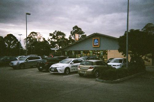 ALDI supermarket parking lot