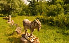 Where all kind of creatures meet (Basse911) Tags: sculptures vänoxa wenoxa summer finland suomi nordic lush green