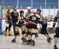 Rumble Game 1: Shipyard Sirens (Saint John NB) vs Spitfires (Fredericton NB) (Aug 18 2018, Fredericton NB) (RicLaf) Tags: derby rollerderby capitalcityrumble capitalcityrollers fredericton newbrunswick spitfires shipyardsirens fogcityrollers saintjohn