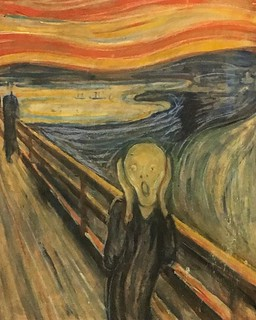 The Scream (Norwegian: #Skrik) is the popular name given to multiple versions of a composition by Norwegian Expressionist artist Edvard #Munch between 1893 and 1910. The German title Munch gave these works is Der Schrei der Natur (The #Scream of #Nature).