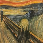 The Scream (Norwegian: #Skrik) is the popular name given to multiple versions of a composition by Norwegian Expressionist artist Edvard #Munch between 1893 and 1910. The German title Munch gave these works is Der Schrei der Natur (The #Scream of #Nature). thumbnail