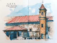 Piedrahita (P.Barahona) Tags: ermita torre campanario rural urbansketcher pleinair