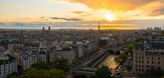 Sunset Paris (valecomte20) Tags: sunset paris notre dame cathédrale seine water eaux nikon d5500 coucherdesoleil