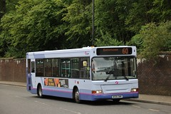 First Glasgow WX06 OMR (42958) | Route 60 | Clydebank Bus Station, W. Dunbartonshire (Strathclyder) Tags: first glasgow firstglasgow alexander dennis adl dart plaxton pointer wx06 omr wx06omr 42958 clydebank chalmers street west dunbartonshire scotland olympialivery caledonia firstwestofengland