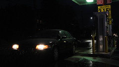 Graveyard Shift (Emergency_Spotter) Tags: ford crown victoria police interceptor p7b headlights night time small town gas station