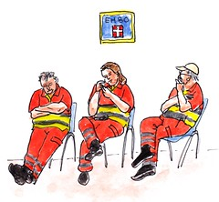 EHBO / first aid (h e r m a n) Tags: herman illustratie tekening drawing illustration dagboek diary journal mijnleven mylife ehbo firstaid wereldhavendagen rotterdam