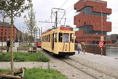 Vlatam 9994 en 2000 Halte Mas (vos.nathan) Tags: vlatram vlaams tram en autobusmuseum de lijn antwerpse antwerpen 9994 2000 pcc