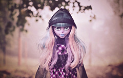 A Quick Twist of the Knife (GothGeekBasterd) Tags: river styxx doll ghoul haunted ghost town raven queen monsterhigh mattel gown outdoors walk fog foggy morning