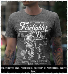 Firefighter Dad. Friendship, Freedom & Protection. White Print. Gildan Ultra Cotton T-Shirt. Dark Heather.  | Loyal Nine Apparel (LoyalNineApparel) Tags: 2a 2amendment 2ndamendment 556 america ar10 concealedcarry defendthesecond firstresponder gunporn guns gunsdaily happy igguns igmilitiaca instaguns libertarian liberty livefree livefreeordie loyalnineapparel loyalnineclothes military pewpewandchill pewpewpew rifle rifleholics safetyfirst usa