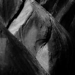 In Canyons 270 (noahbw) Tags: d5000 grandstaircaseescalantenationalmonument nikon utah williscreek abstract autumn blackwhite blackandwhite bw canyon cliffs desert erosion light monochrome natural noahbw quiet rock shadow slotcanyon square still stillness stone
