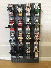 My CAC collection (jakes-mayn) Tags: clonewars starwars wars star display collection clonearmycustoms cac figure custom army clone lego