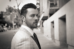 Actor Dan Feuerriegel (LolaMiche) Tags: leica leicasl sl danfeuerriegel actor film spartacus filmactor tv suit suitandtie tie mensfashion dramatic dramaticportrait cinematic cinematicportrait blackandwhite blackandwhiteportrait sexyman sexymen movies movie hollywood hollywoodblvd lolamiche concrete wall outdoor street streetphotography streetportrait