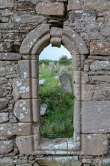 Killaghtee Old Church, Cemetery, and Ancient Stone Slab Cross (Greg Carey) Tags: donegal ulster ireland wildatlanticway coast