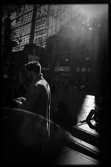 Finding the sun (Albion Harrison-Naish) Tags: sydney newsouthwales australia martinplace iphoneography mobilephotography iphone iphonese hipstamatic blackeyssupergrainfilm lowylens jollyrainbow2xflash unedited straightoutofcamera sooc