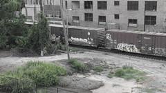 Graffiti on Freightcars (N.the.Kudzu) Tags: urban city atlanta georgia landscape freightcar graffiti building canondslr canoneflens l