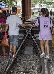 Walking toward love (Yuri Mariannini Photo) Tags: love rail station thailand market markettrain sonyalpha sony zeiss