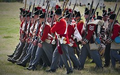 M5 Living History Show (jacquemart) Tags: m5livinghistoryshow livinghistory show spetchley worcester troops drill marching redcoats historicalreenactment