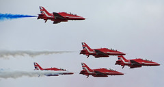 RAF Red Arrows @ Eastbourne Airshow 2018 (Paul @ Doverpast.co.uk) Tags: raf red arrows eastbourne airshow 2018 bae hawk aircraft airbourne flight flying