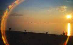 IMG_9315 (giltay) Tags: southamptonontario sunset lakehuron sun lake beach holga hplc pinhole lensflare chantryisland softfocus