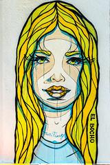 waiting (bilderkombinat berlin) Tags: ⨀2018 elbocho girl berlin prenzlauerberg capital city wheatpaste pasteup colors streetart berlinstreetart eu germany europa europe