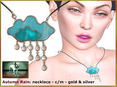 Bliensen - Autumn Rain - Necklace (Plurabelle Laszlo of Bliensen + MaiTai) Tags: whimsical kawaii rain cloud bliensen secondlife sl jewelry necklace earrings